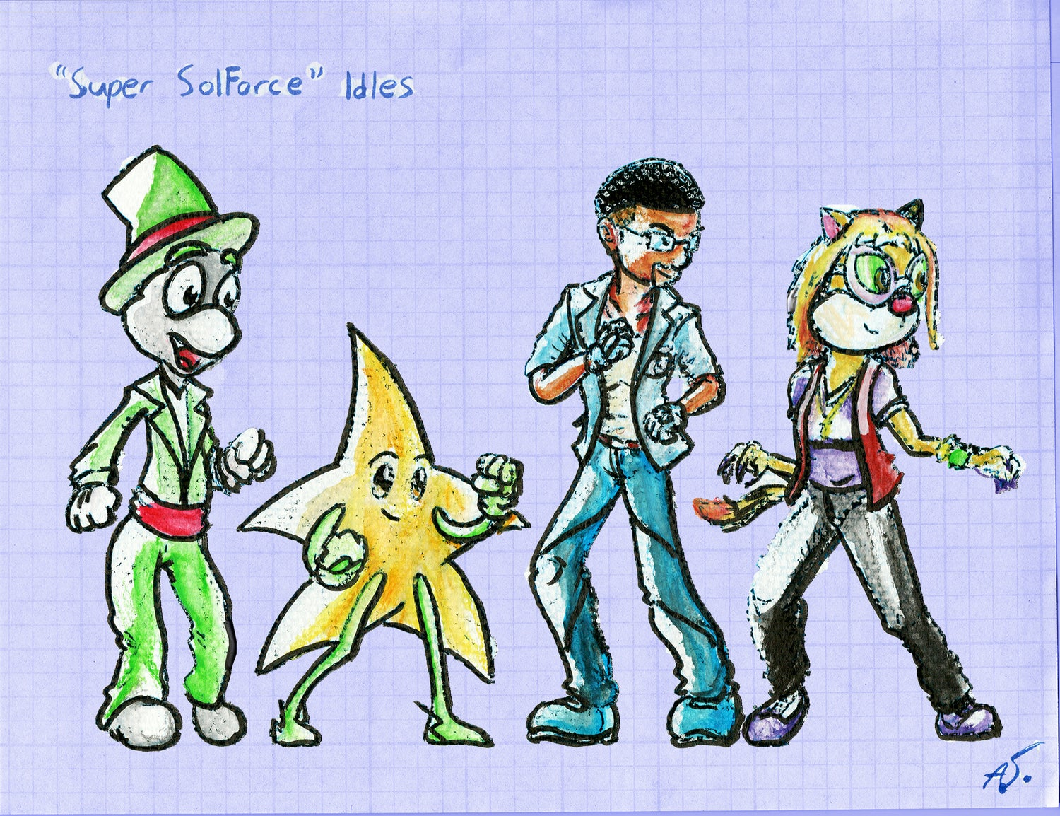 Image of Super SolForce- Idle Stances