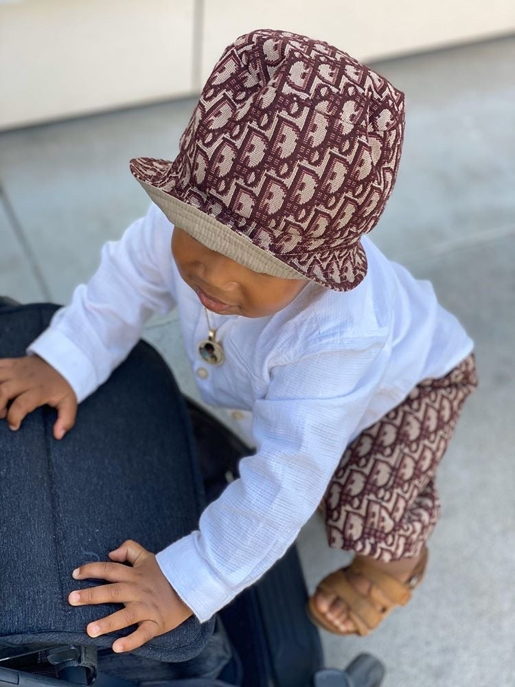 Image of Baby/Kids Trunks and Bucket Hat Set