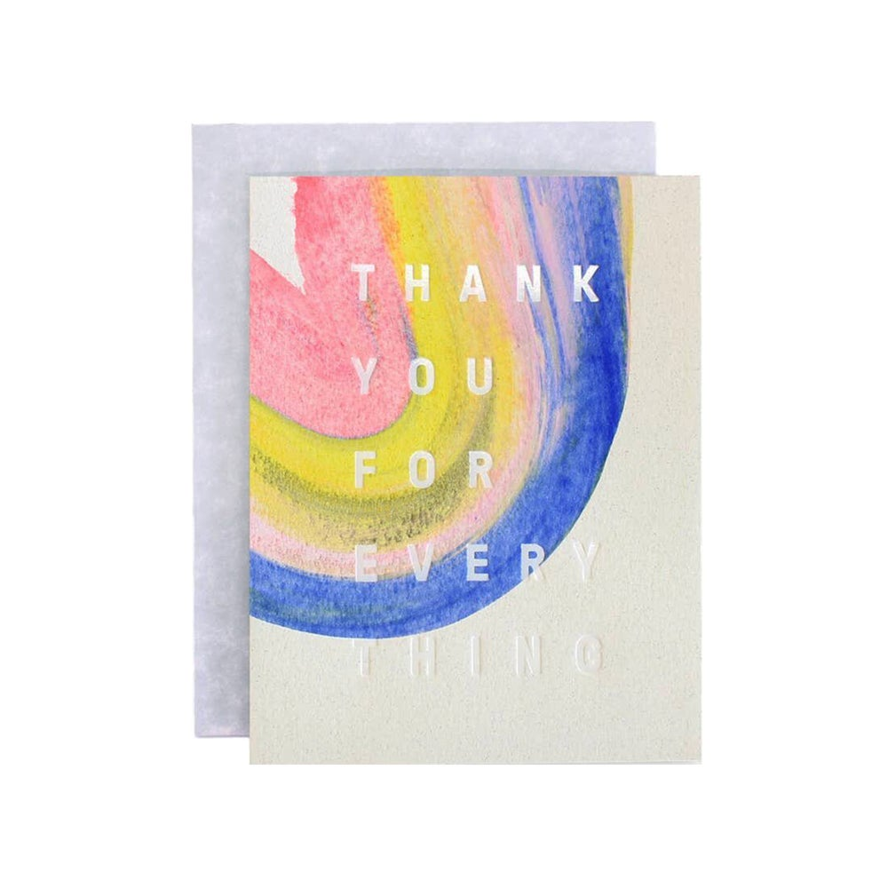 Image of Rainbow Thank You Card