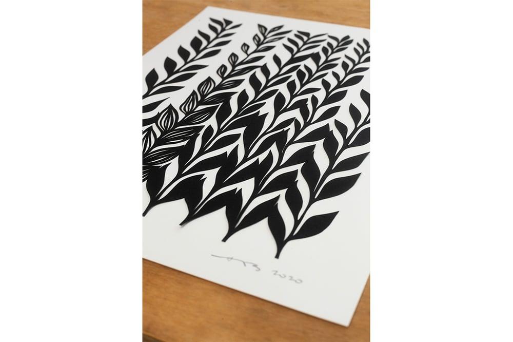 "Image of Fern Series #4 {Original Papercut - 11x14""}"