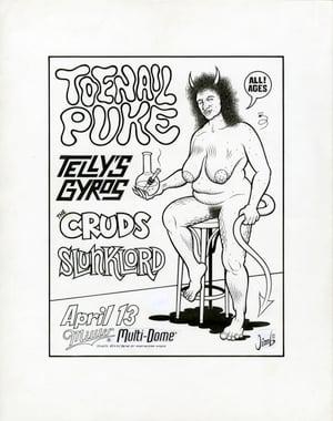 Image of TOENAIL PUKE ink original