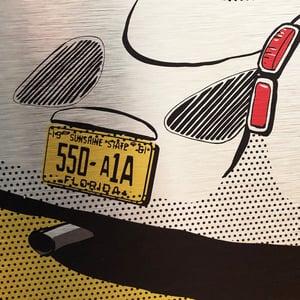"Image of Porsche 550 ""Flat Conditions"" Metal Artwork"