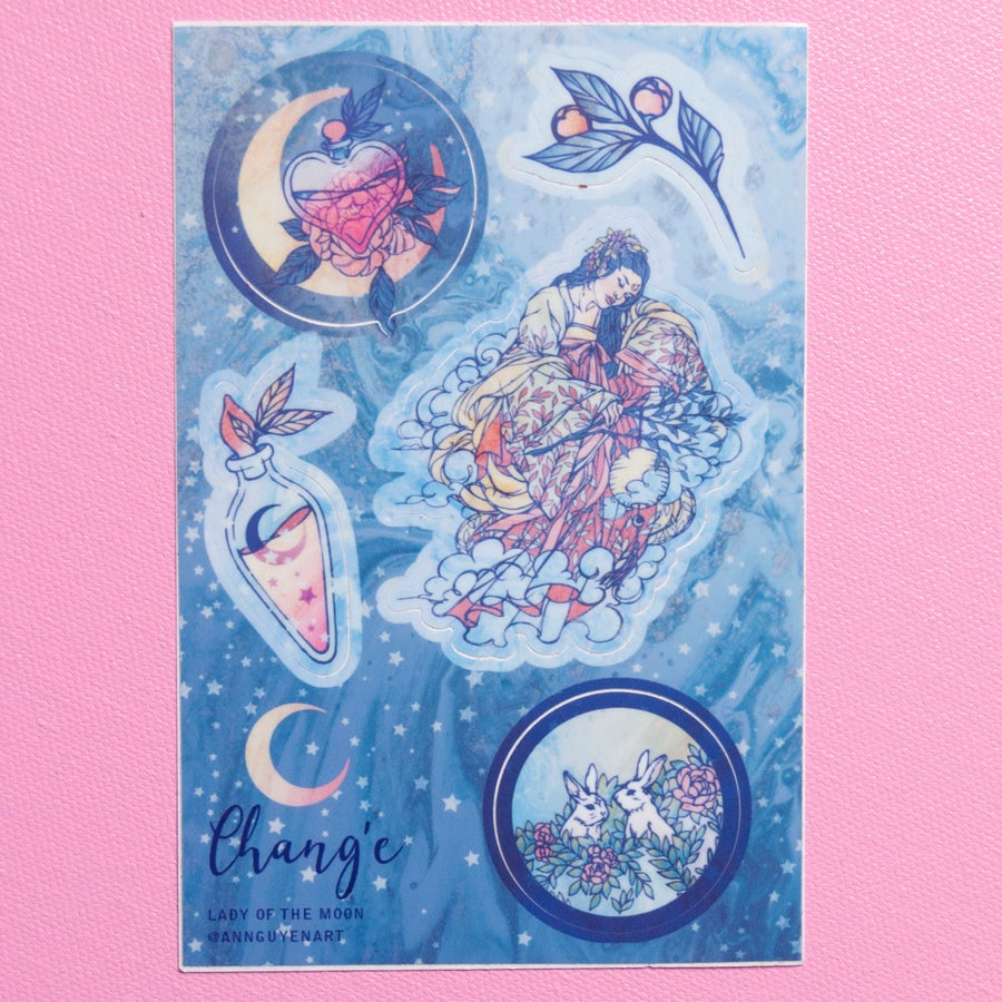 Image of Chang'e Lady of the Moon Sticker Set