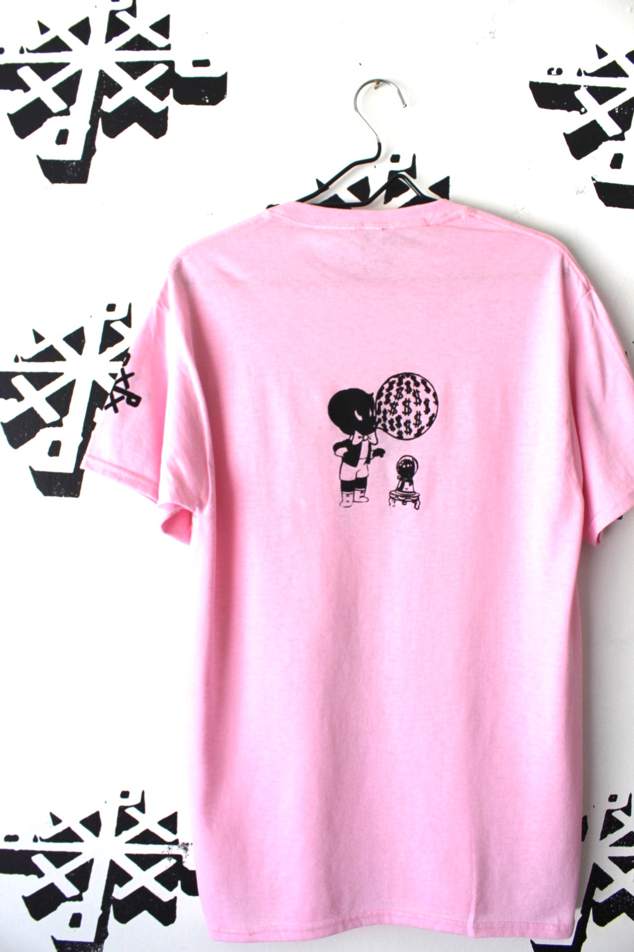 Image of blow up tee in pink