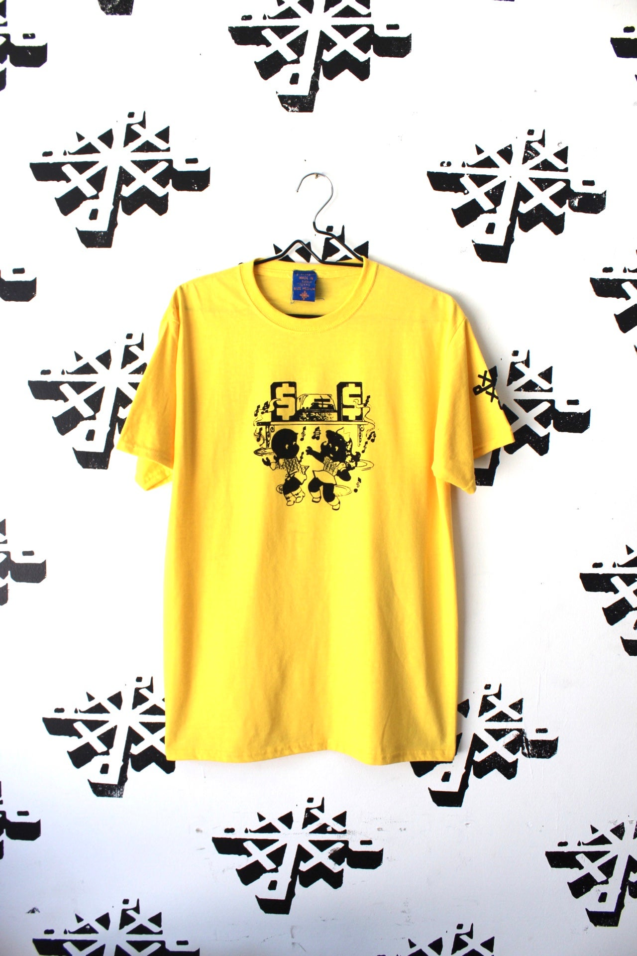 Image of move something tee in yellow