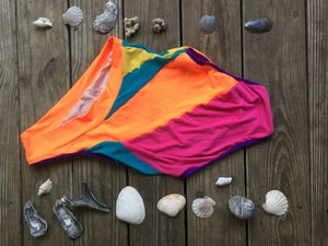 Image of Citrus & Berries Multi One Shoulder Swim Suit
