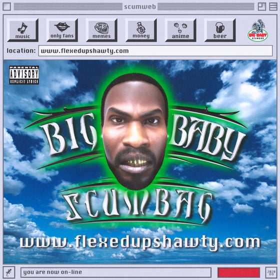 Image of Big Baby Scumbag - www.flexedupshawty.com - limited edition CASSETTE, CD, AND BUNDLE