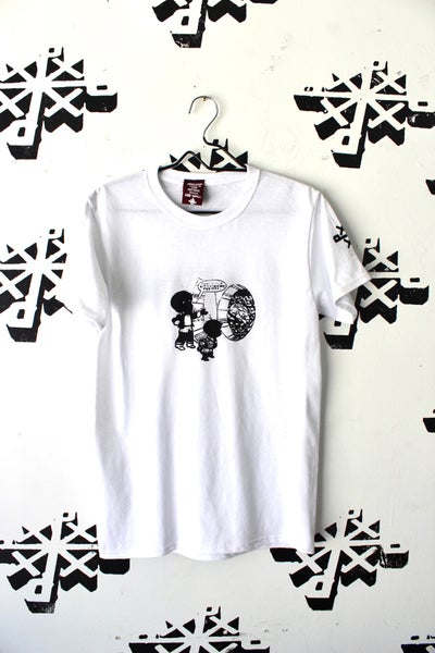 Image of share it tee in white