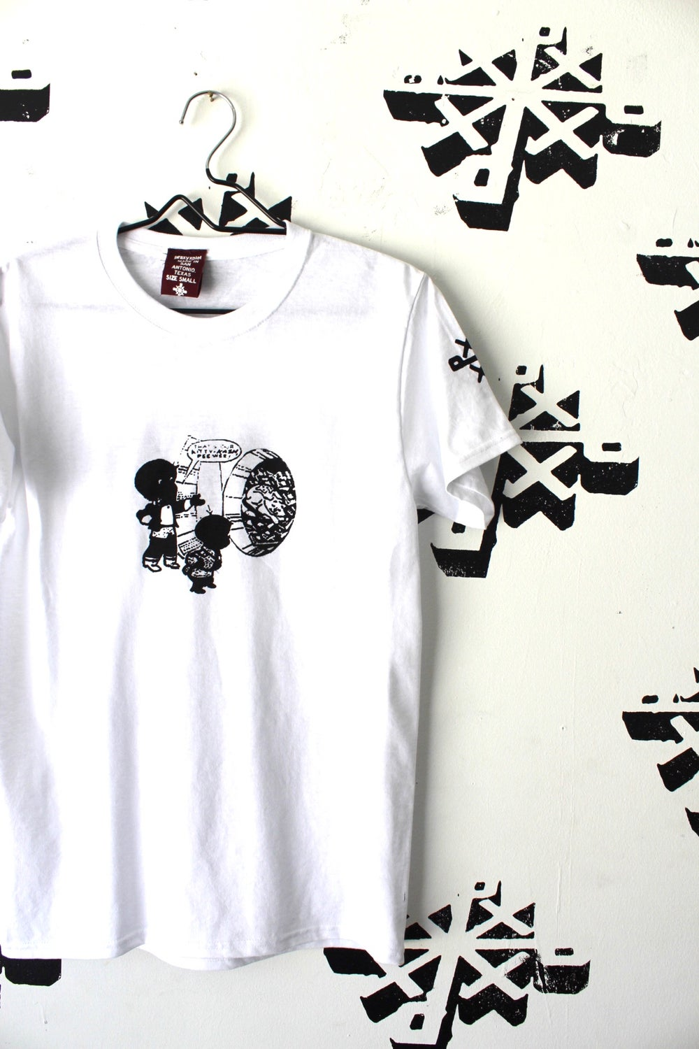 share it tee in white
