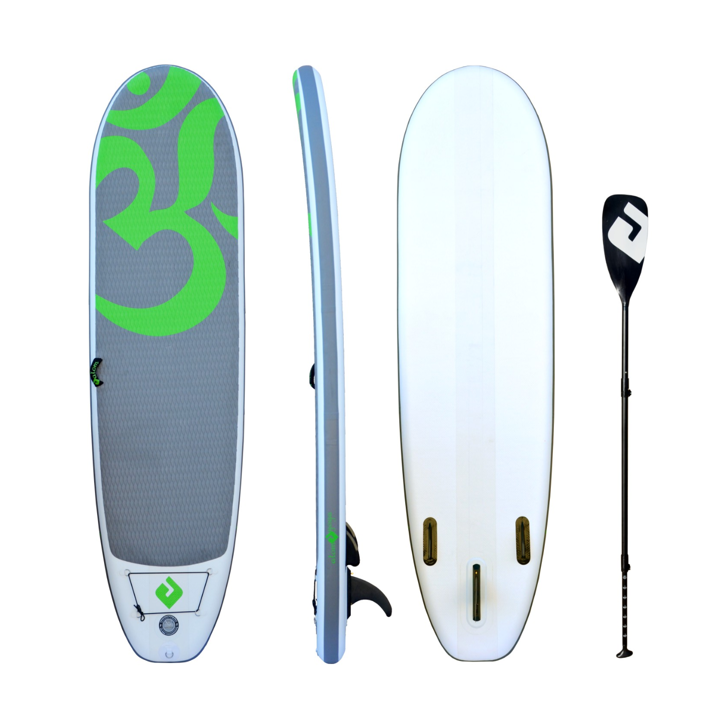 """Image of Atom Inflatable Stand Up Paddle Board (SUP) Package - 10' x 33"""" x 6"""" - YOGA - Green"""