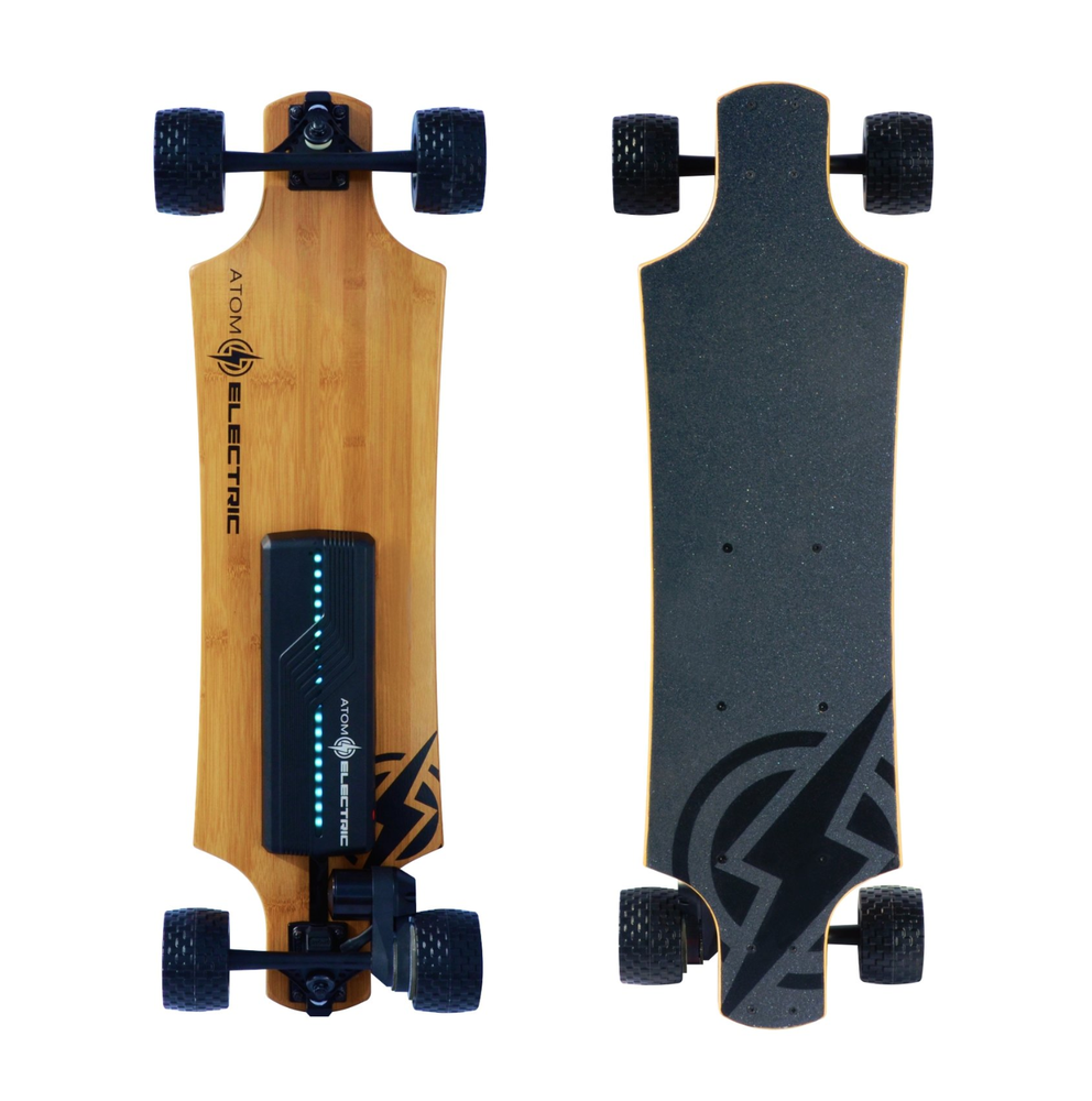Image of Atom Electric B10X All-Terrain Longboard Skateboard - 90Wh Lithium Battery - 1000W Motor