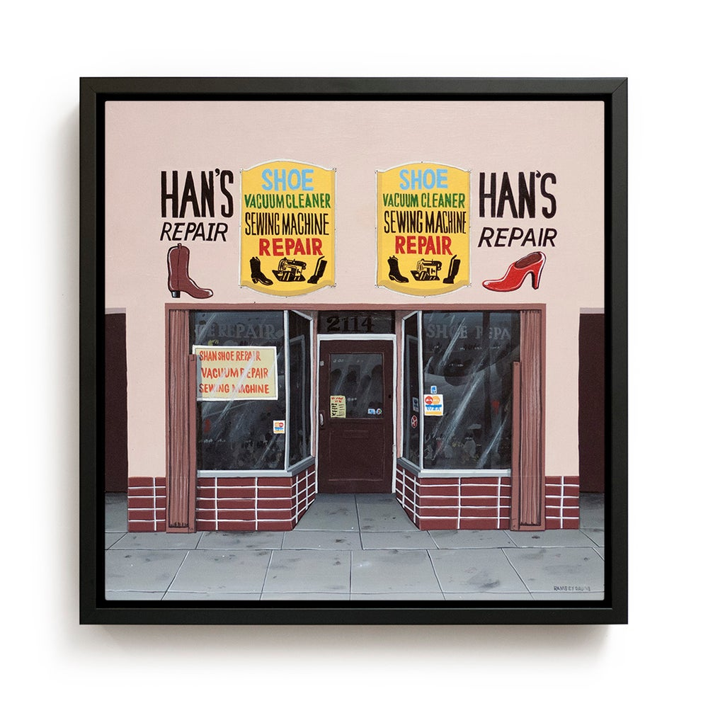 "Image of ""Han's Shoe Repair"" Original Painting"