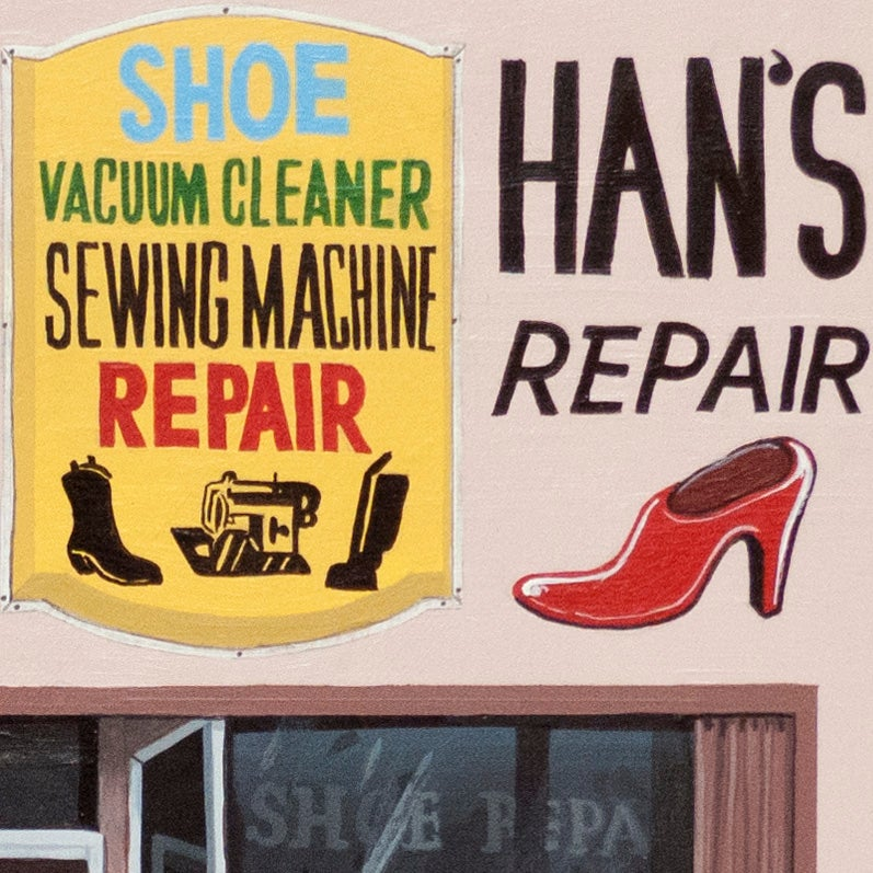 Han S Shoe Repair Original Painting