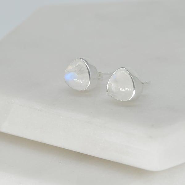 Image of Trillion Moonstone Earrings