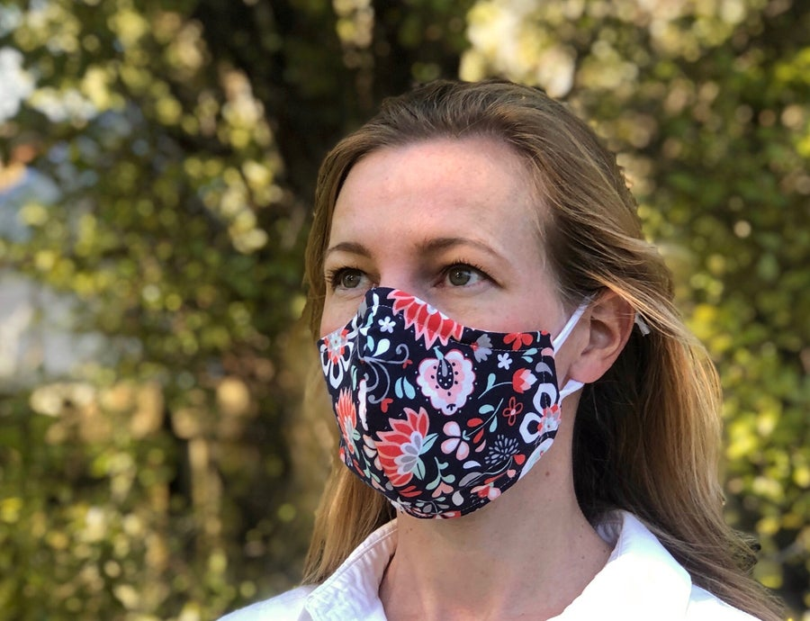 Image of Cloth Mask - Navy Floral