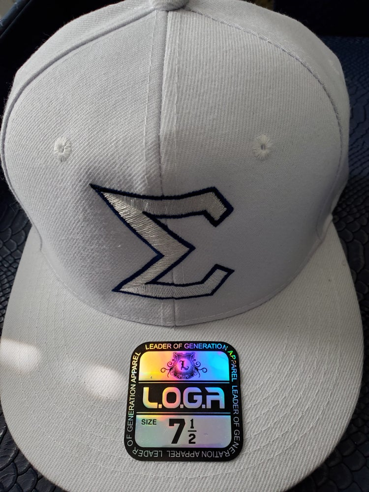 Image of Limited Edition White w/Royal Trim Fitted Baseball Cap