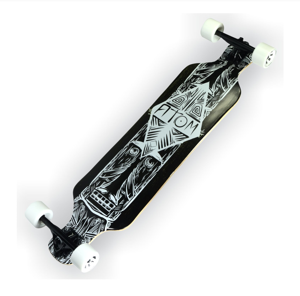 Image of Atom Drop Deck Longboard - 39 Inch (Dark Tiki)