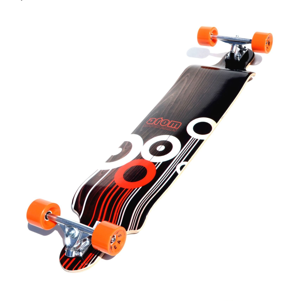 Image of Atom Drop Deck Longboard - 41 Inch (Orange)