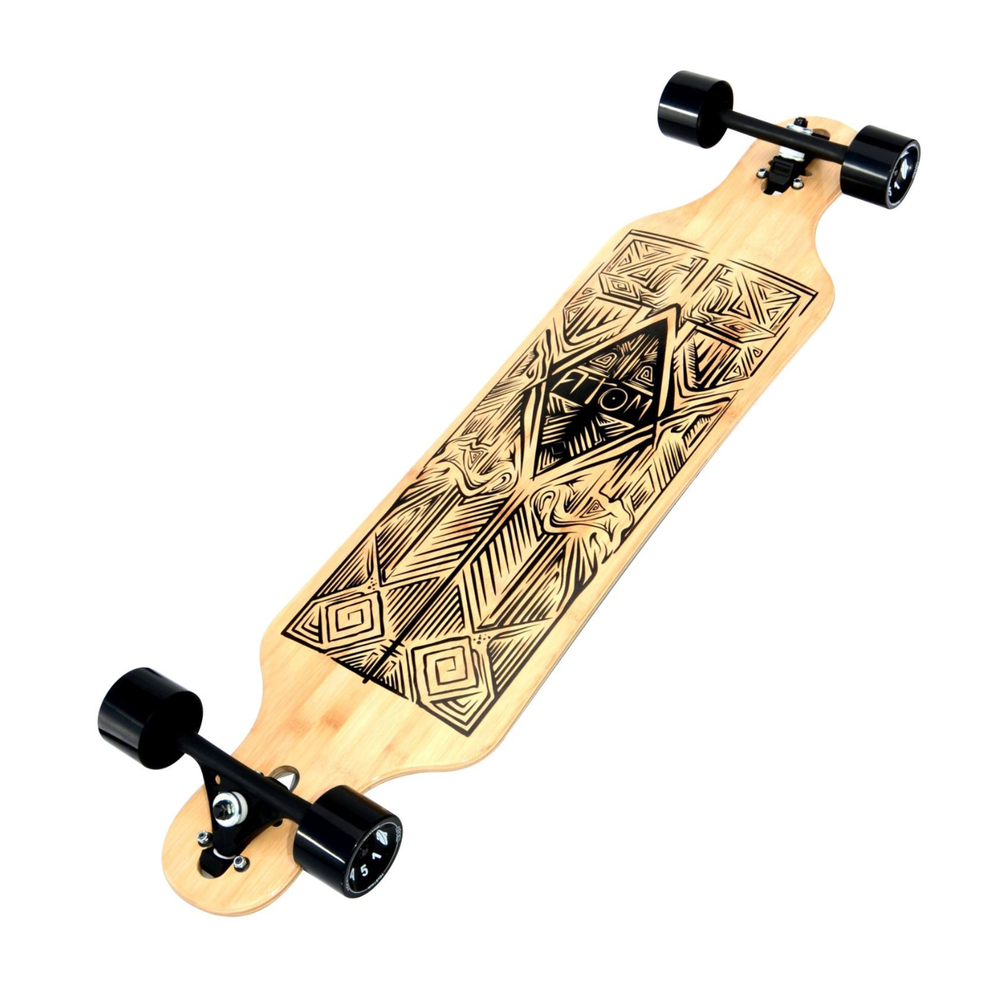 Image of Atom Drop-Through Longboard - 40 Inch (Bamboo Tiki)