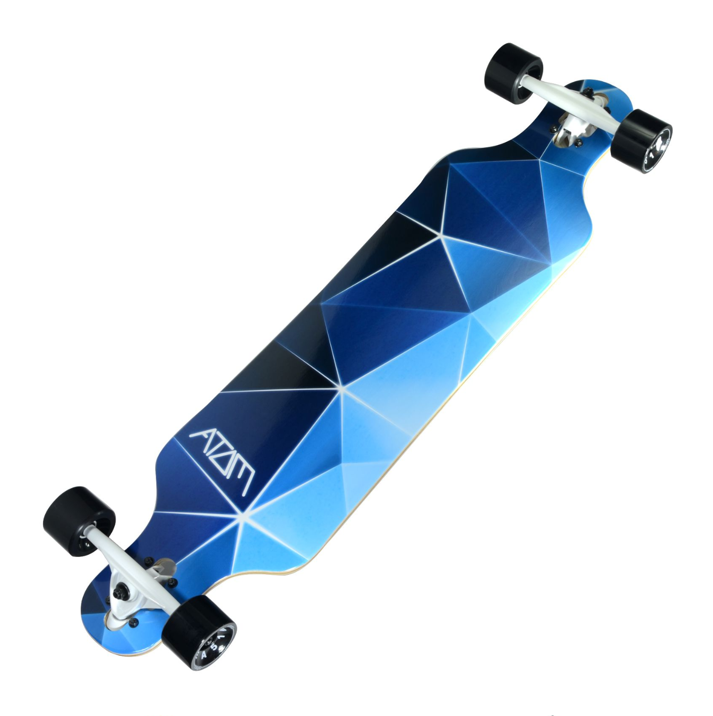 Image of Atom Drop Through Longboard - 40 Inch (Blue Geo)