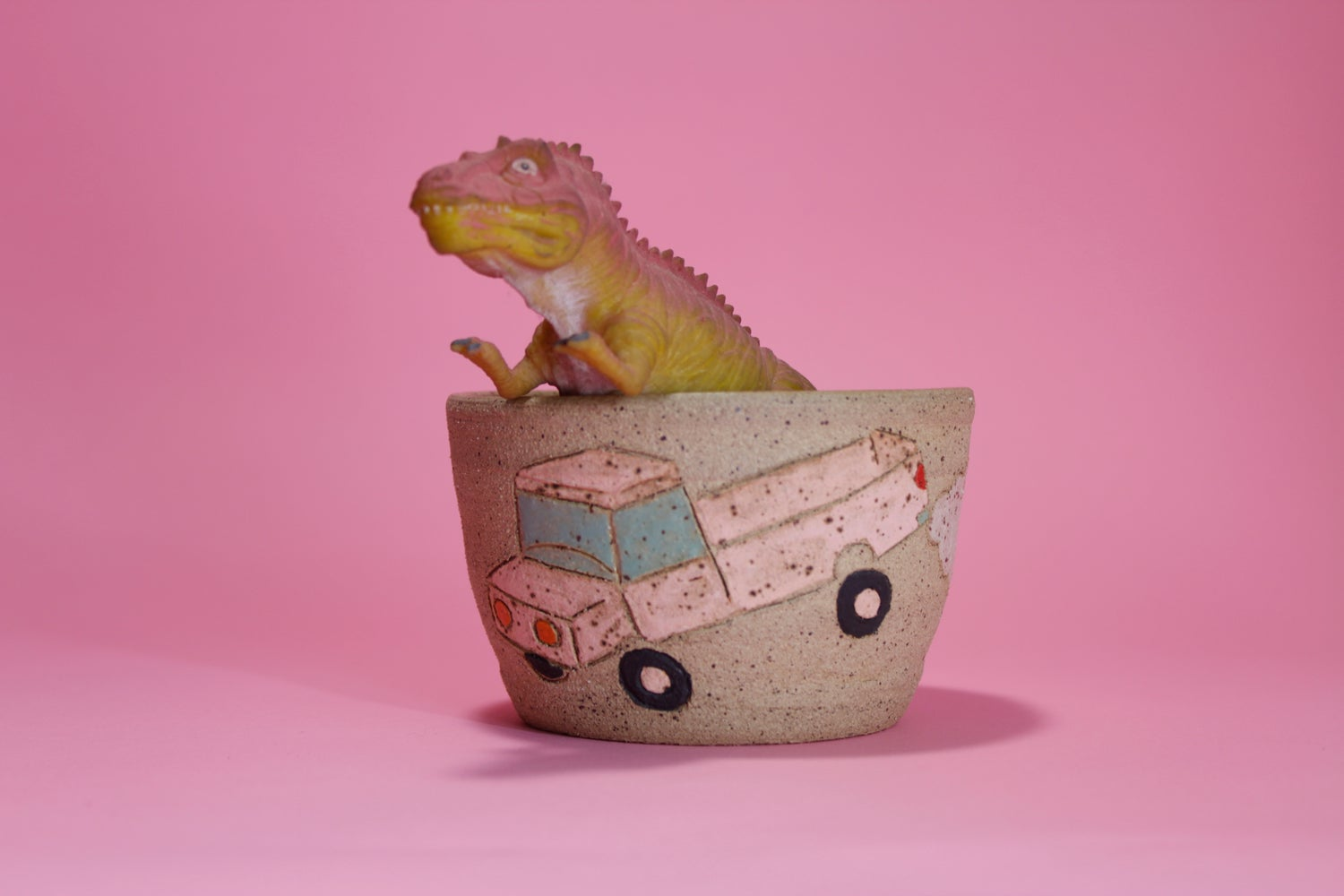 Image of Pink Truck Pot