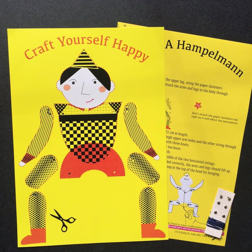 Classic Yellow Hampelmann  DIY Kit