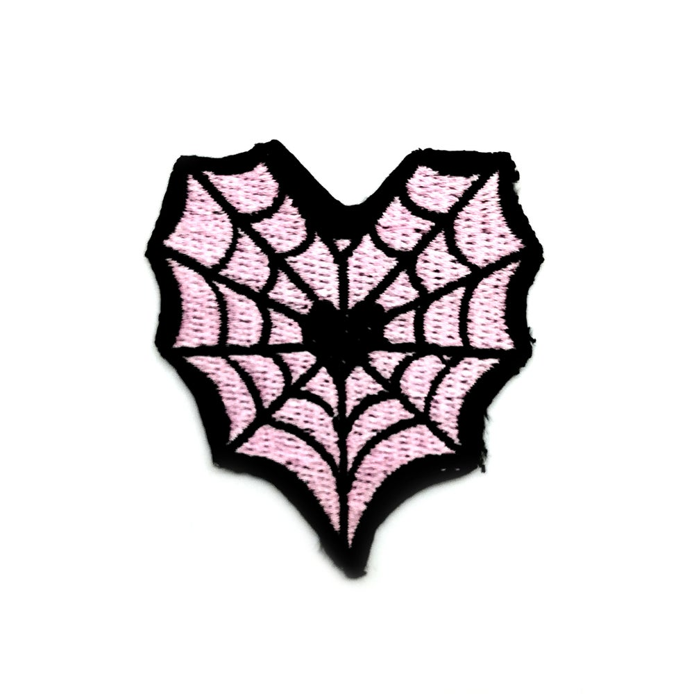 Image of Spider web heart patch
