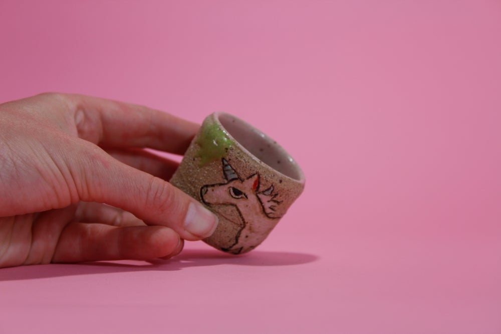 Image of Unicorn Shot Glass - ceramic