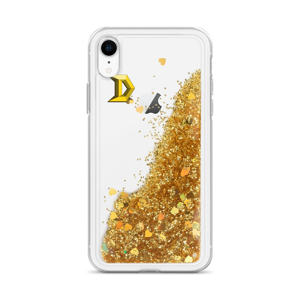 Image of Liquid Glitter Phone Case - Gold D
