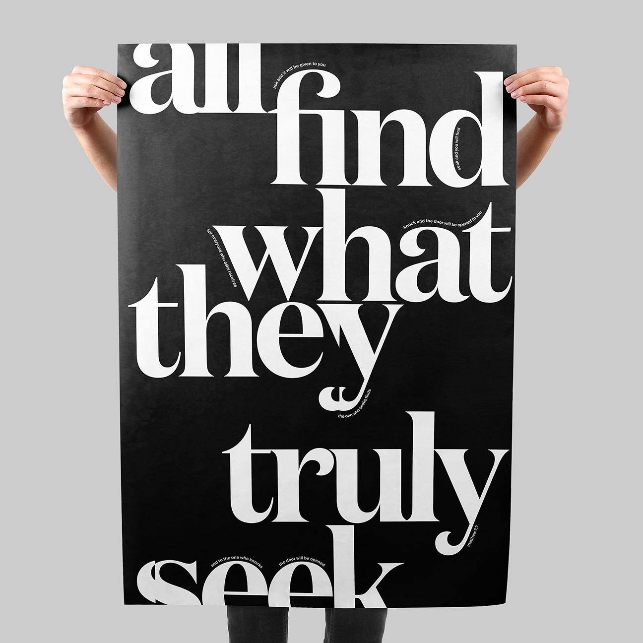 All Find What They Truly Seek SIGNAL A poster by Xtian Miller