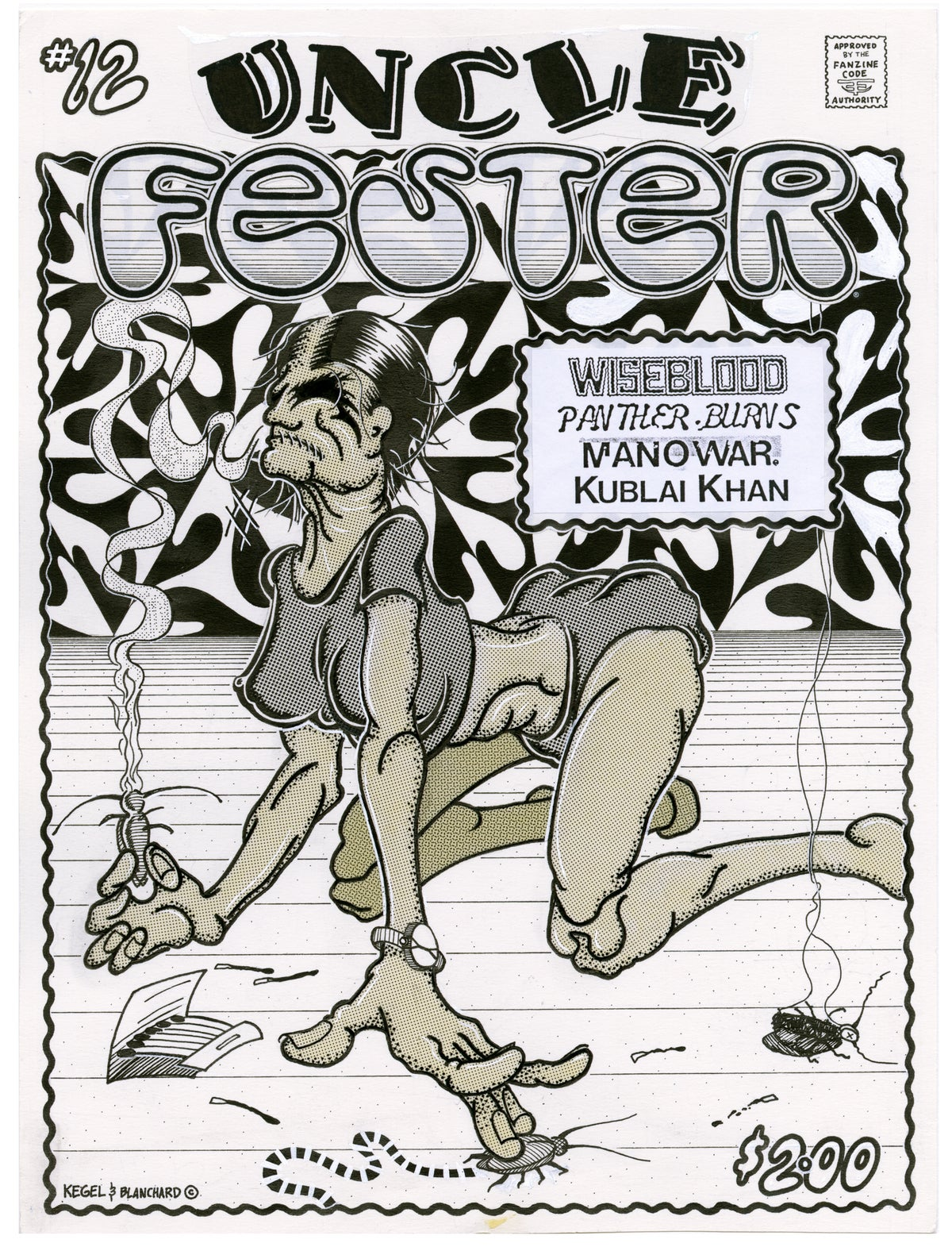 Image of UNCLE FESTER #12 COVER ink original