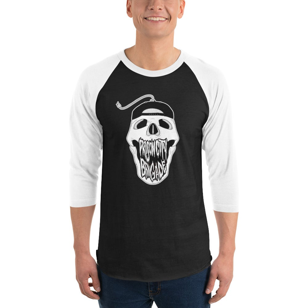 3/4 Sleeve Unisex Boomskull Shirt