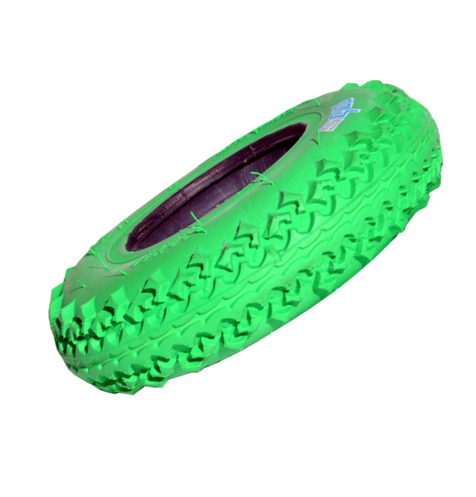 "Image of 8"" MBS T3 Tire - Green (1)"