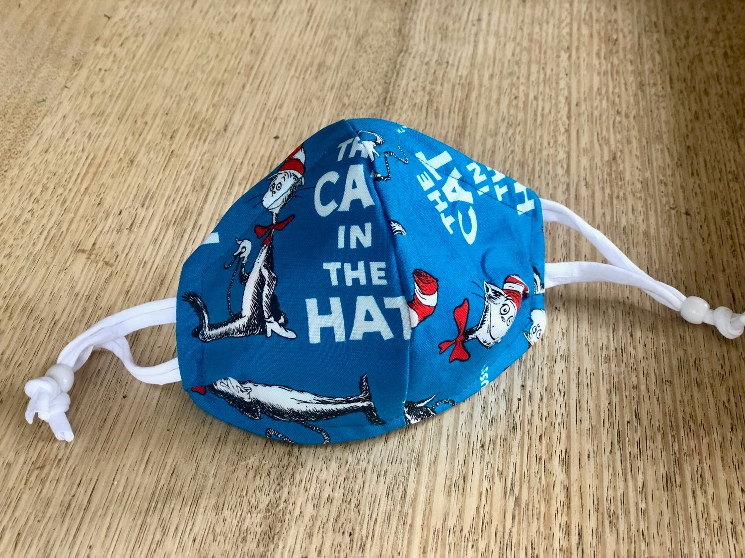 Image of Cloth mask- The Cat in the Hat- Dr. Seuss