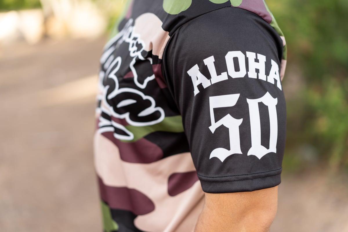 """Aloha Islands-Rise Up"" Camo Sublimation T-shirt"