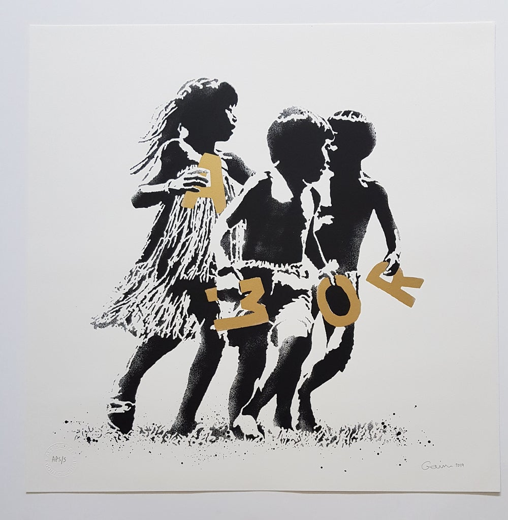 """Image of GOIN """"AMOR"""" GOLD ARTIST PROOF EDITION OF 5 - 50CM X 50CM"""