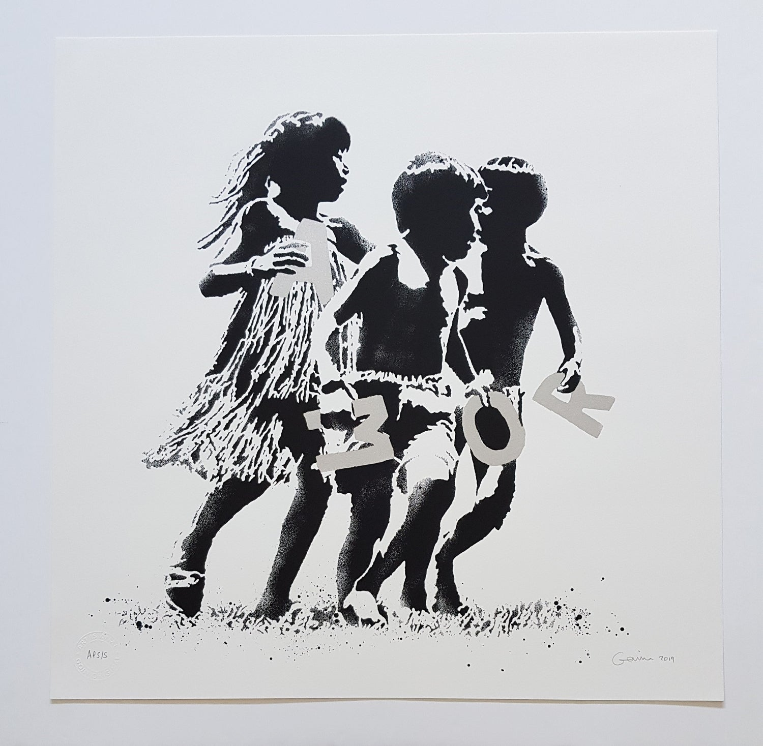 """Image of GOIN """"AMOR"""" SILVER ARTIST PROOF EDITION OF 5 - 50CM X 50CM"""