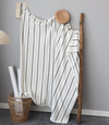 Simple striped embroidery blanket