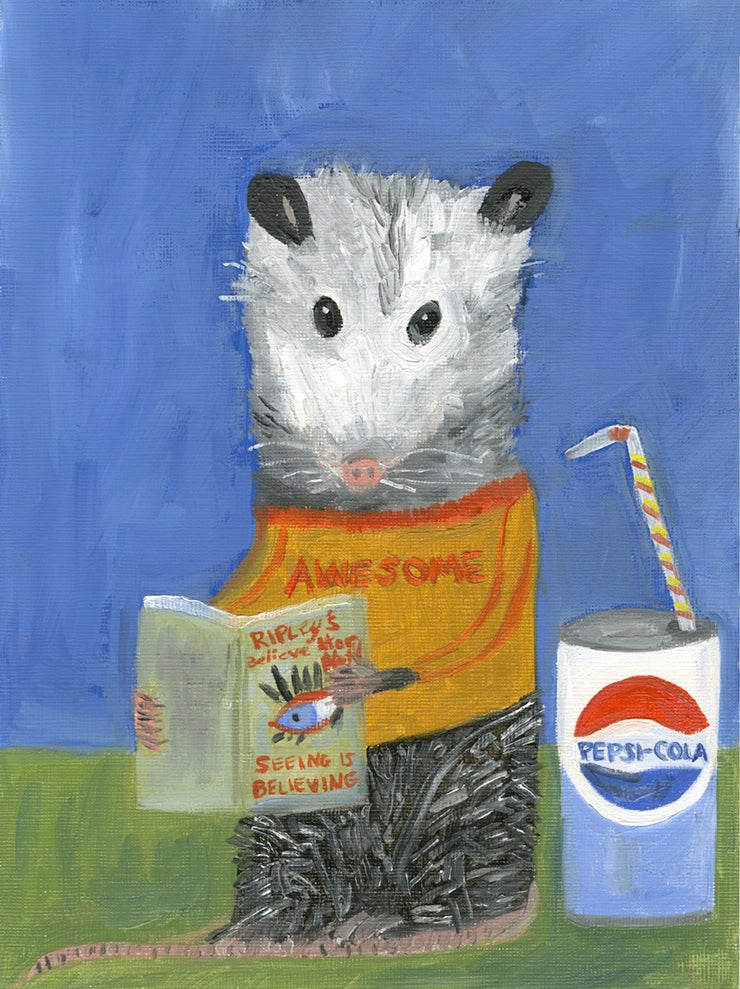 Image of Awesome Possum. Limited edition print.