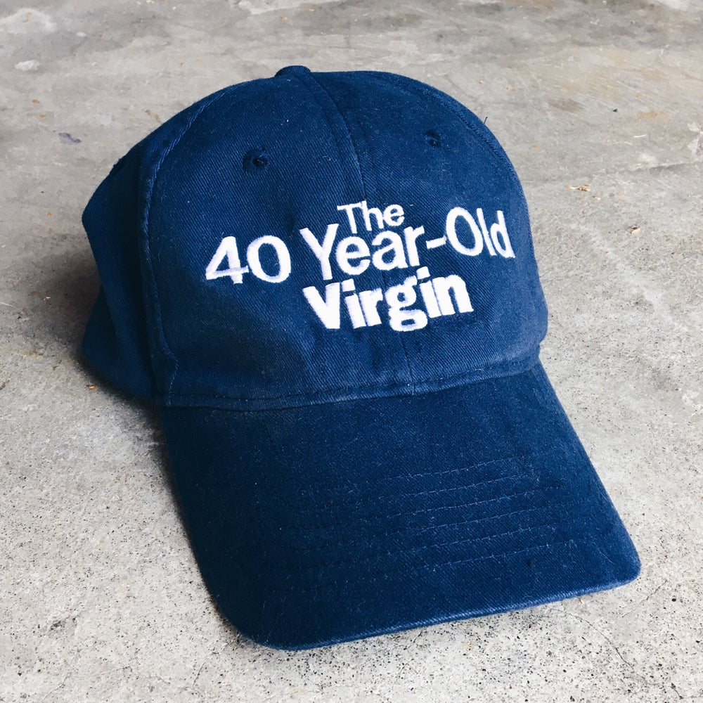 Image of Original 2005 The 40-Year-Old Virgin Movie Promo Strapback Hat.