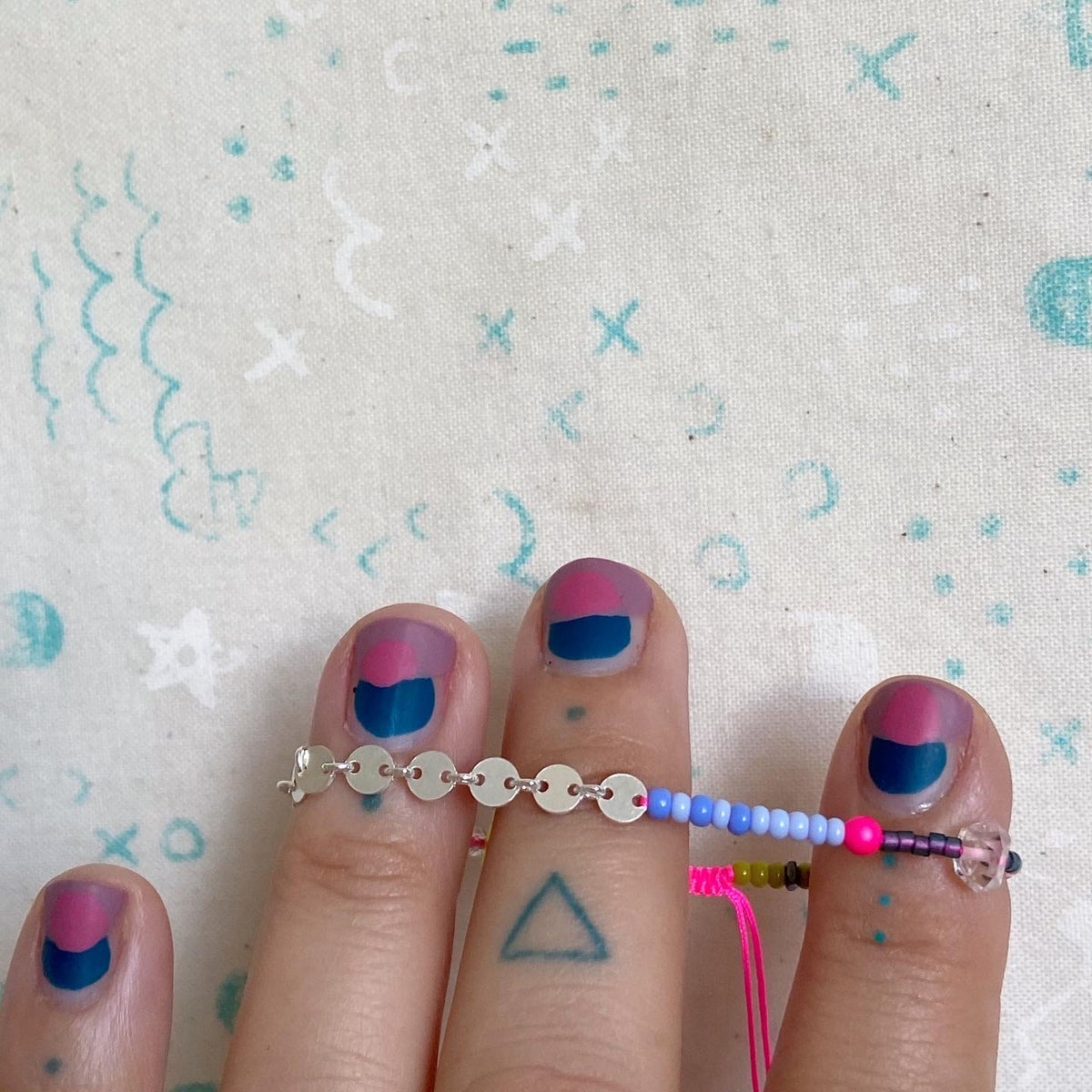 Image of circle chain and herkimer diamond bracelet