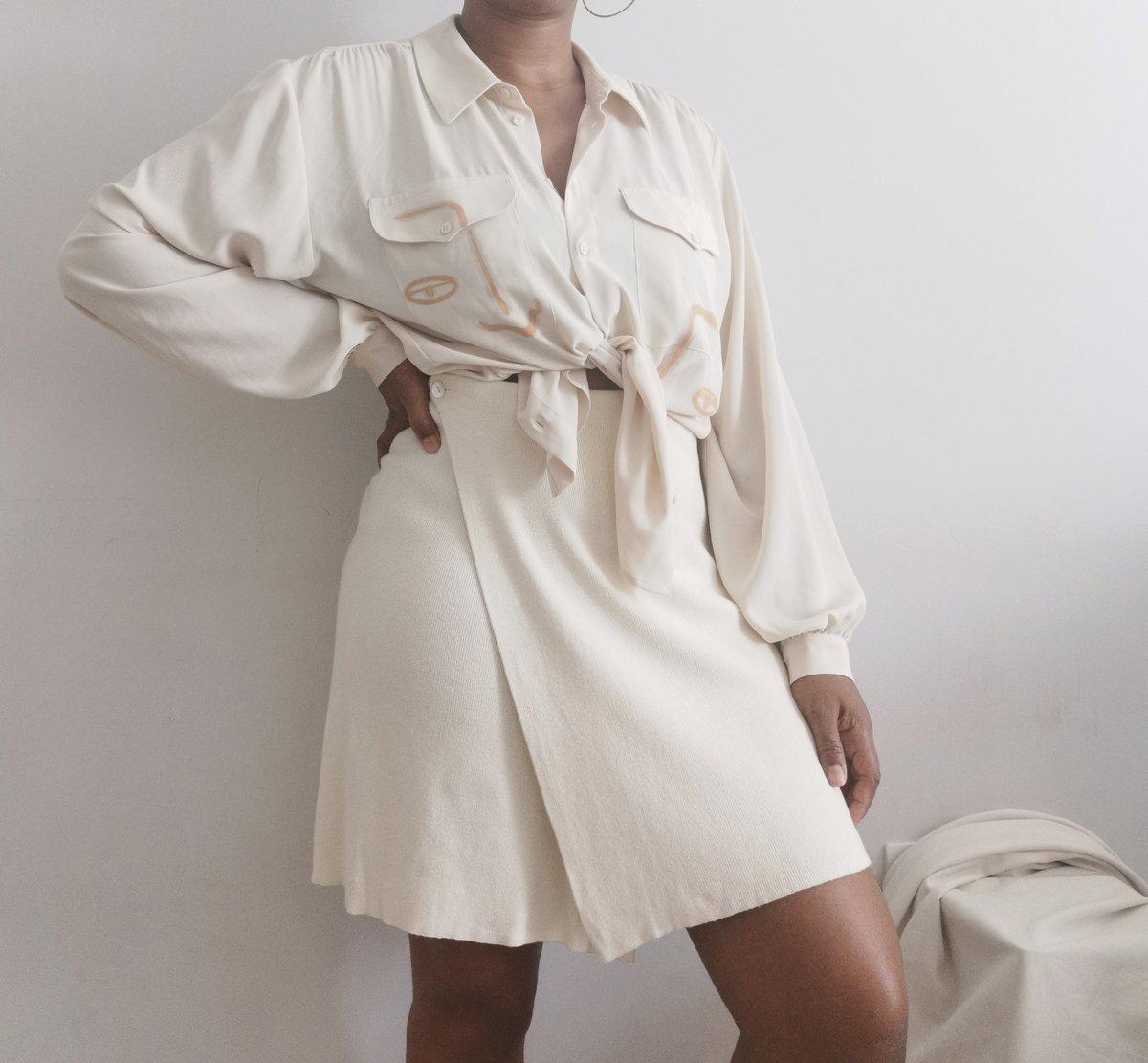 Image of wool ra skirt