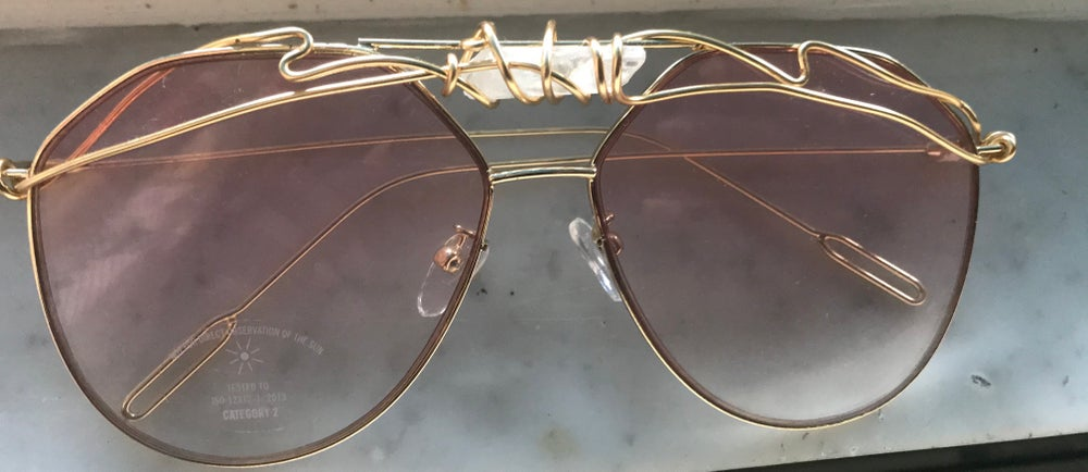 Image of Pastel clear Qaurtz aviators