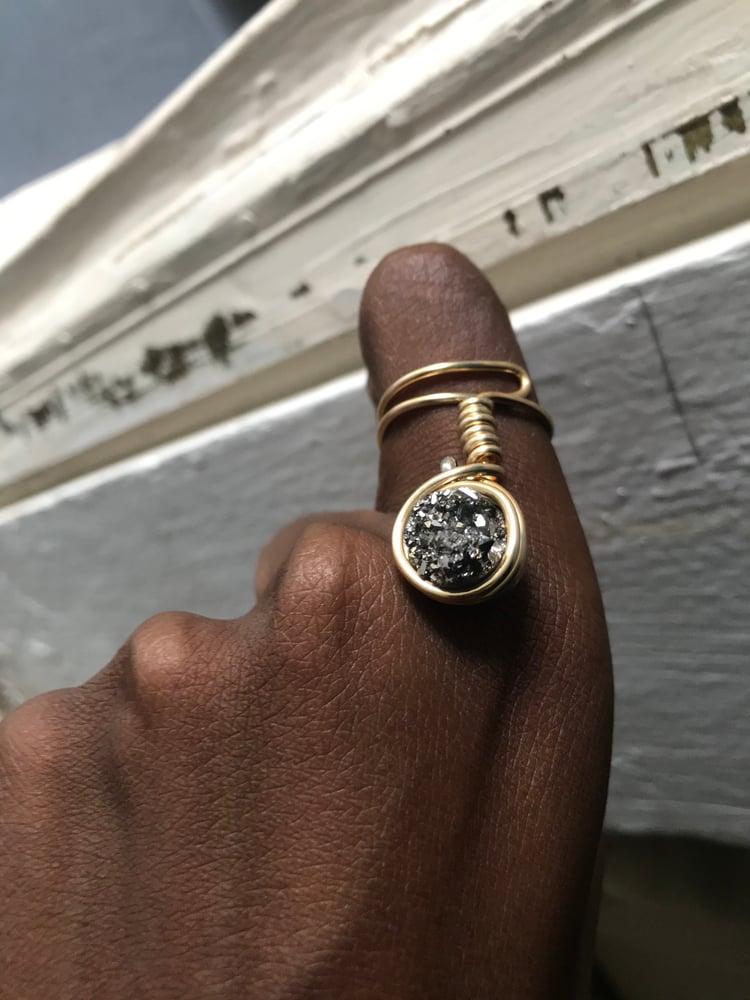 Image of Pyrite ring