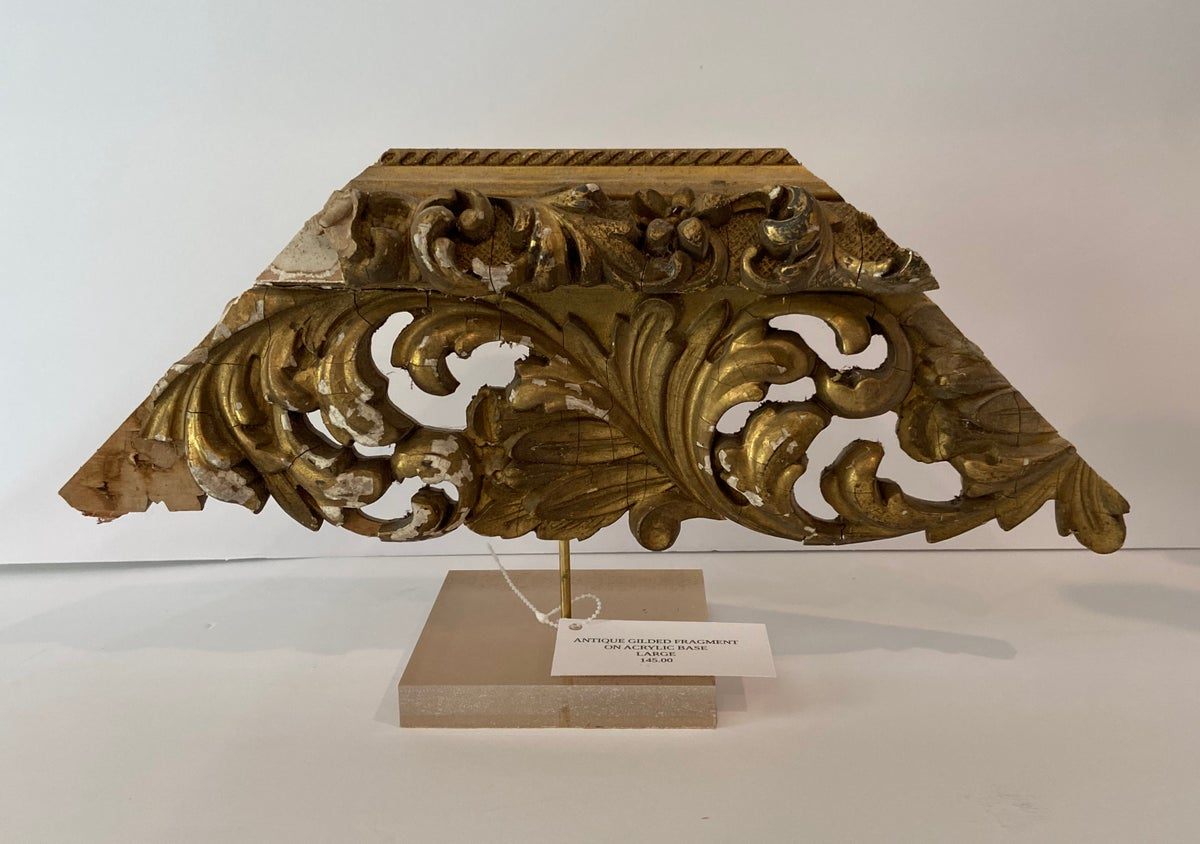 Image of ANTIQUE GILDED FRAGMENT LARGE