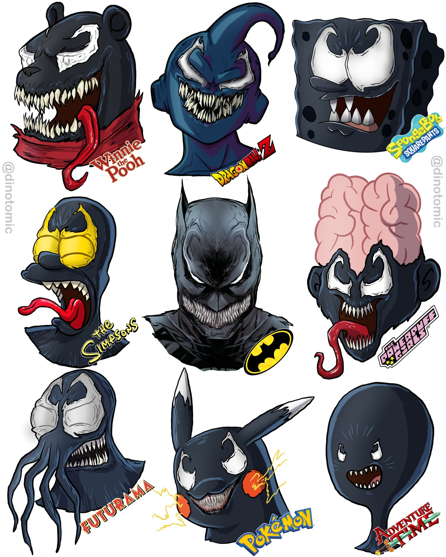 Image of #246 Venom different characters