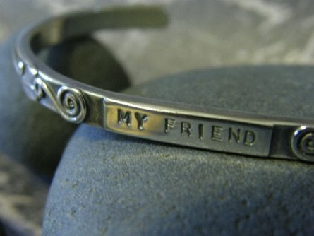 "Image of ""My Friend ~ You are the Sister I wish I had"" Sterling Bracelet"