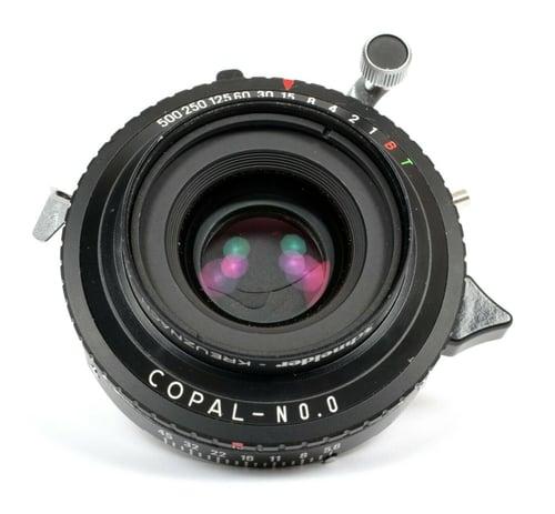Image of Schneider Apo-Symmar MC 100mm F5.6 Lens in Copal #0 Shutter #230