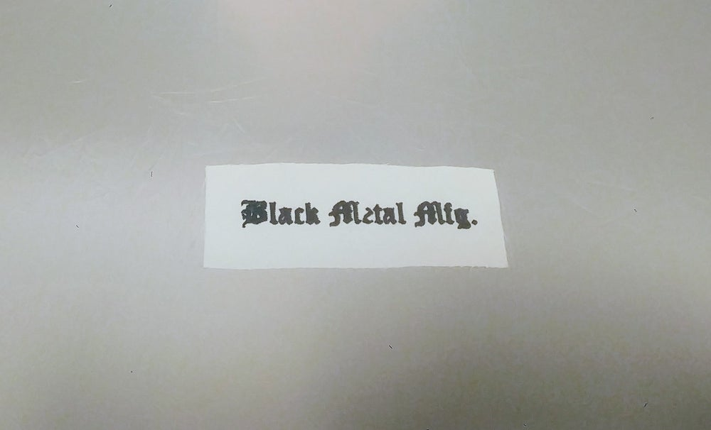 Image of Fabric Patch - Black Metal Mfg.