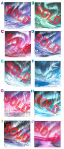 Image of 10 Aurora Original Paintings